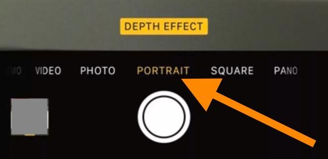 Enable portrait mode on iPhone 7 Plus Camera app