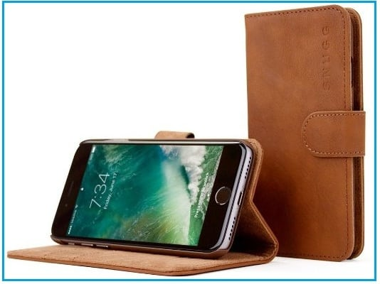 Snugg Best iPhone 7 Leather Wallet Case