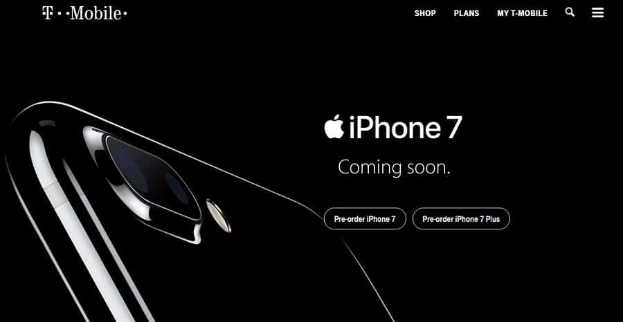 Pre-Order iPhone 7 t mobile