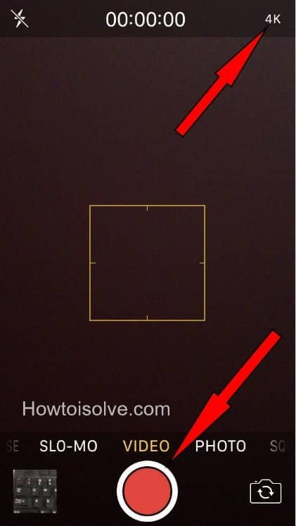 how to how to Take 4k video iPhone 7 Plus iOS 10