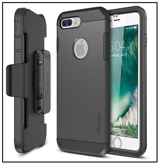 trianium best iphone 7 plus holster belt kickstand case