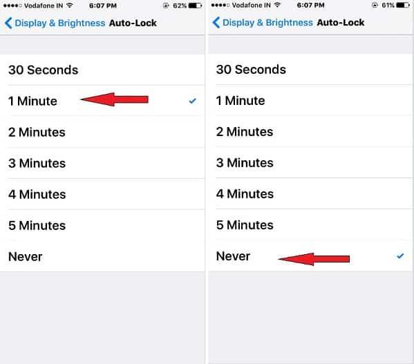 change Apple auto lock screen time in iOS 10 iPhone, iPad, iPod touch