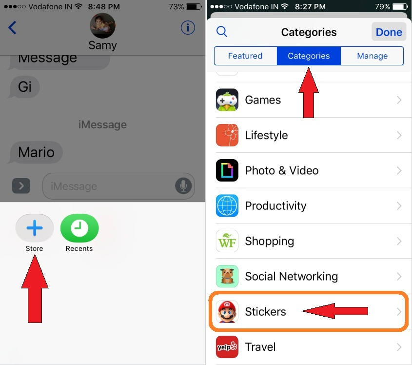 Send Mario Stickers in iMessage on iPhone, iPod touch and ipad