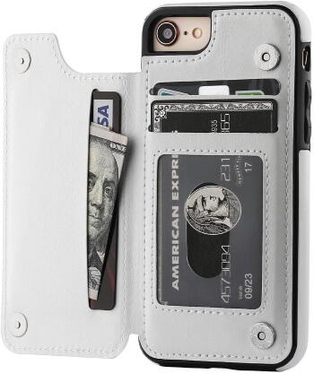 iPhone 7 Case Wallet Premium PU Leather