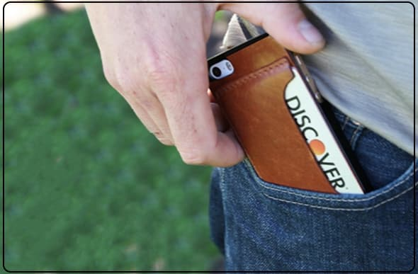 Leather Cardcase with pocket