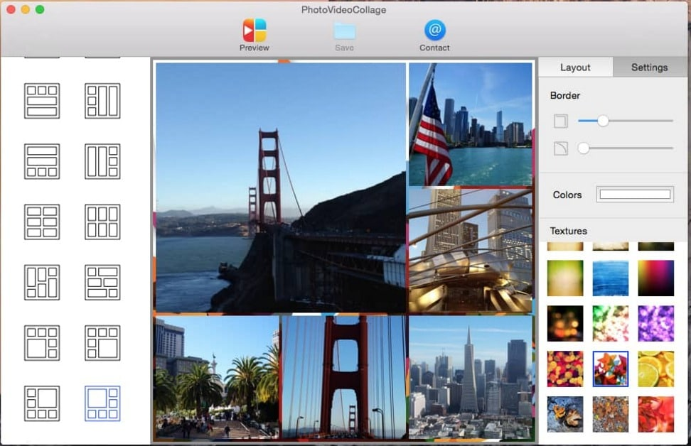 2 Collage Photo and video making app for Mac OS