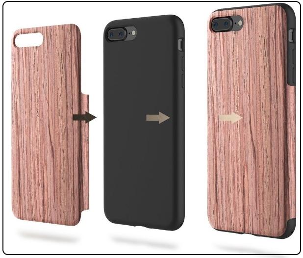 2 ROCK iPhone 7 Plus Sandal Wood case