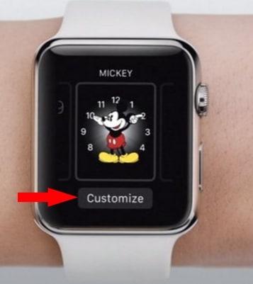 3 Customize Apple watch face on Apple watch