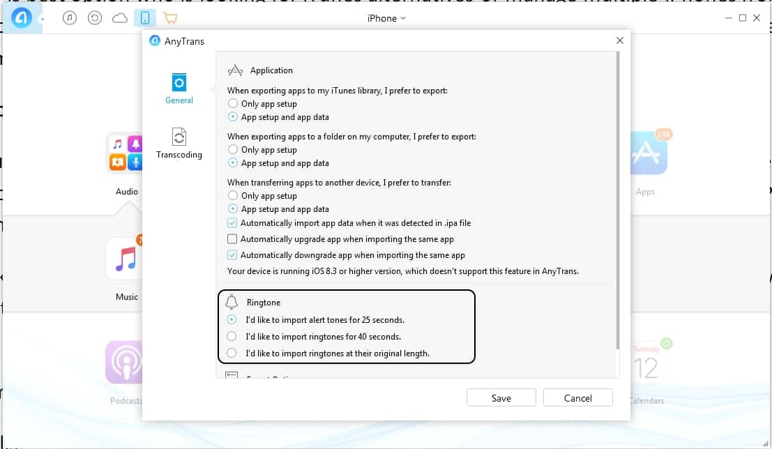 4 Change Ringtone setting 25 sec or 40 sec or no limitation
