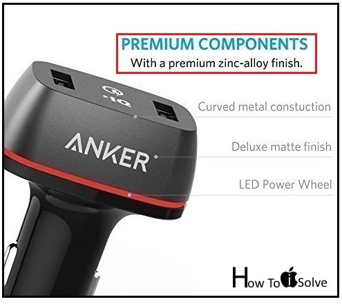 Anker PowerDrive+ 2 Car Charger for Apple iPhone 7 Plus
