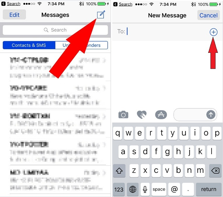 how to send Group Message from iPhone with iOS 10 or mass sms on iPhone
