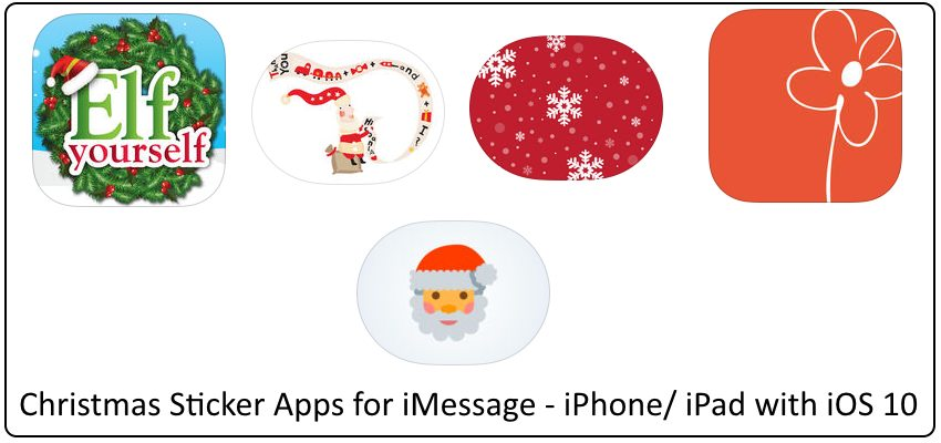 1 Send Christmas Sticker in iMessage on iPhone iPad