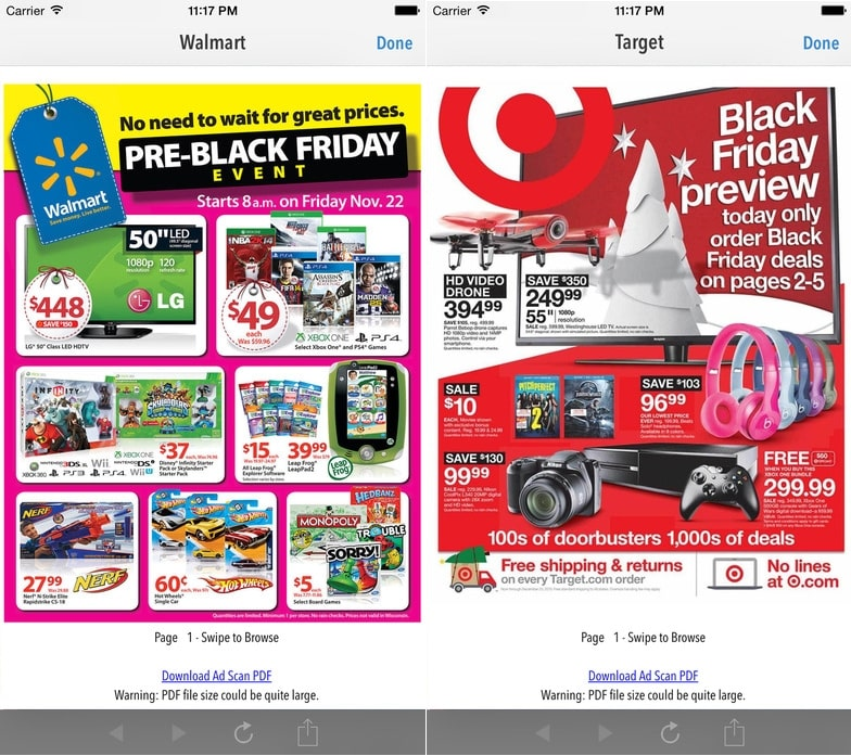 1 TGI Black Friday 2016 iOS apps deals finder for iPhone and iPad