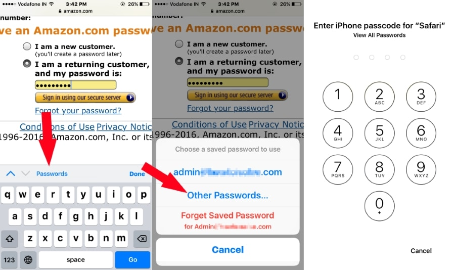 View Saved Password on iPhone Safari with iOS 10
