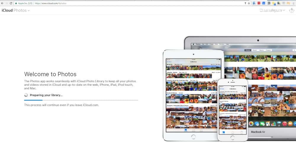 1 sync start on iCloud account for photo