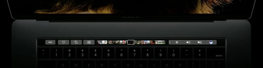 2 Photo Preview and Siri on Macbook Pro Touch Bar