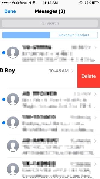 3 Delete iMessage Recipent from list