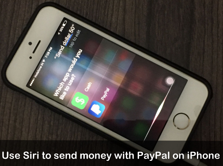 Siri to send money with PayPal on iOS 10