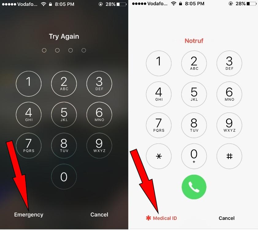 Get medical ID on lock screen iOS on iPhone medical ID from lock screen iOS