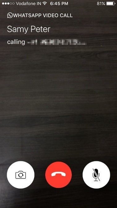 latest update Whatsapp Video Call on iPhone