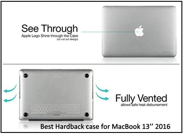 the top Kuzy Crystal Clear hardback case for MacBook 13'' 2016