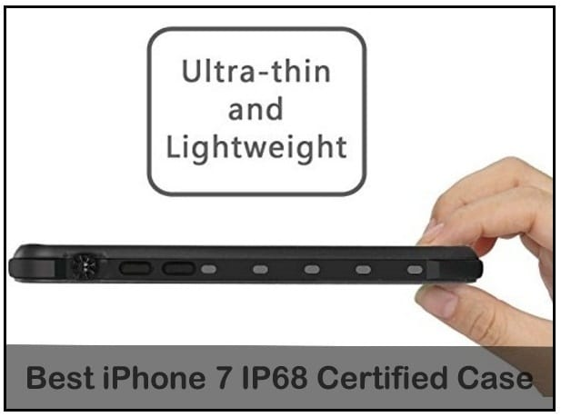 Ultra thin, light in weight waterproof case for iPhone 7