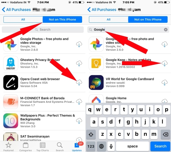 2 Download all apps to new iPhone from iCloud account to new iPhone