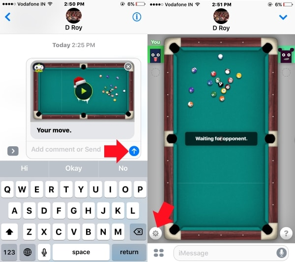 2 Sent your turn to recipents in iMessage on iPhone and iPad
