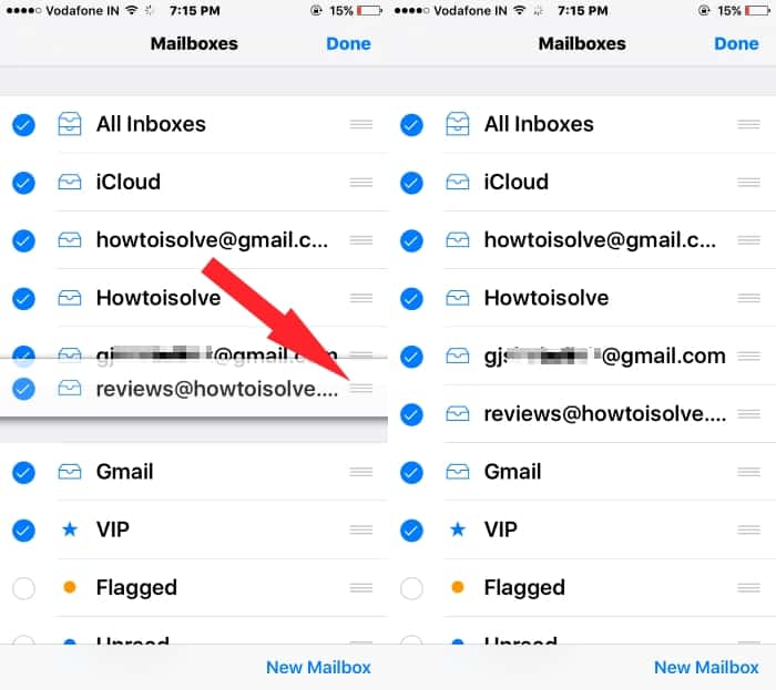 4 Reorganize mail app on iPhone mail app