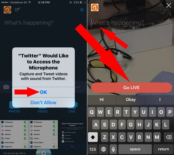 4 Turn on Microphone for iPhone iPad Live twitter