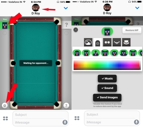 5 Pull Game setting on iPhone and iPad