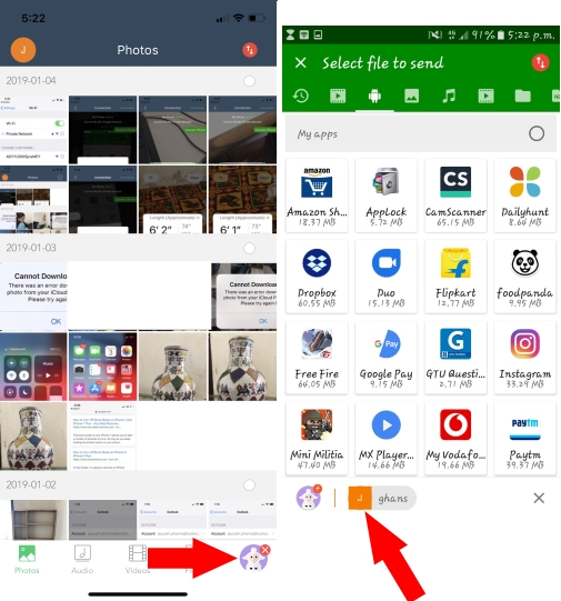 Connection Successful on iPhone and Android Xender
