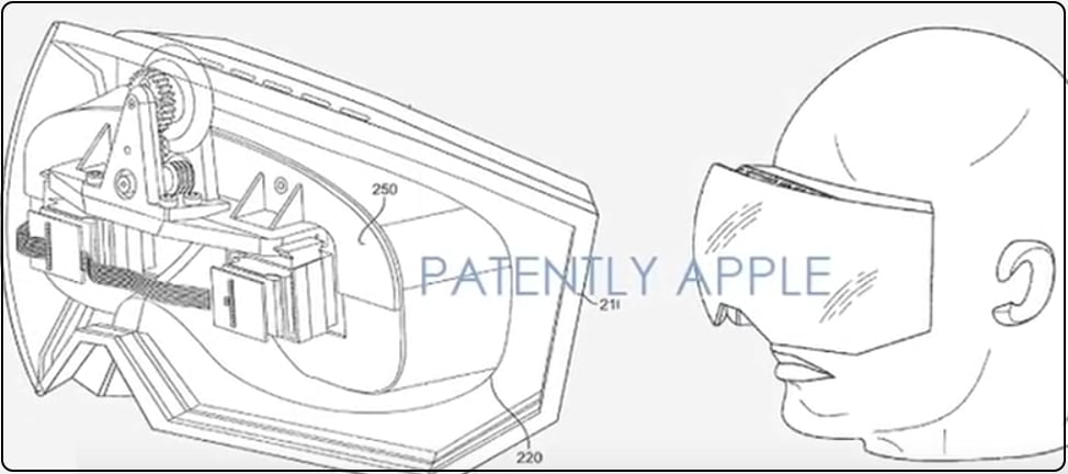 Apple VR Headsets in 3D view design