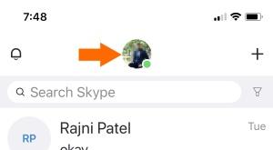 1 Skype profile on iPhone Skype app