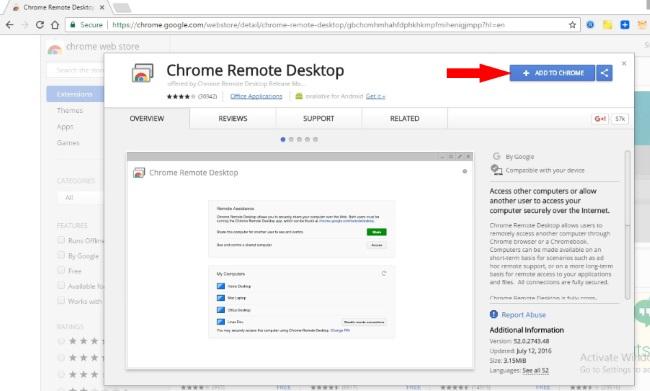 install remote Desktop on Google Chrome for iMessage