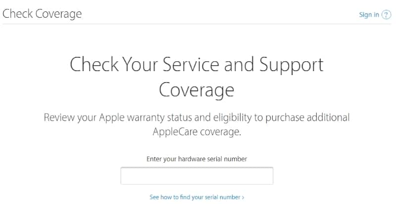 Check Warranty Status and Purchase Date for Apple Device