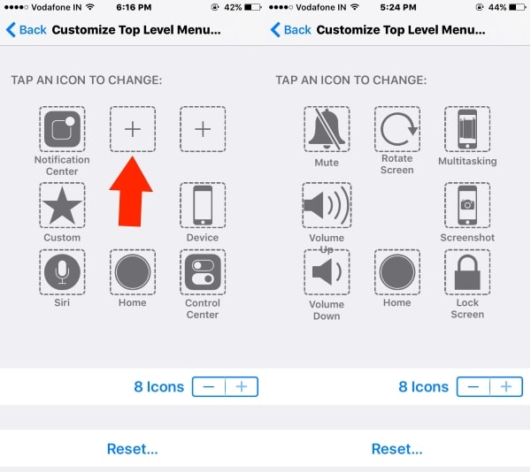 4 Add new icon in Assistive touch