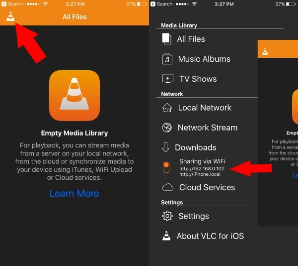 Turn on VLC web on PC from iOS