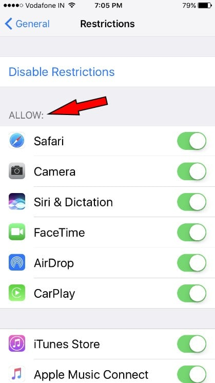 Parental Controls on iPhone 7 Plus to hide Applications on Home screen