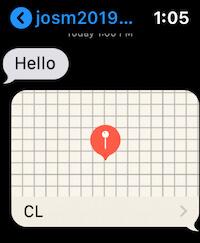 Location send from apple watch in Message