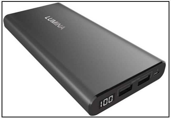 Lumina 15000 mAh Ultra portable power bank for iPhone 7 +