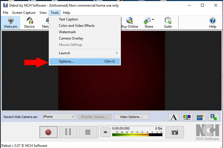 EpocCam desktop software for record video from iPhone (1)
