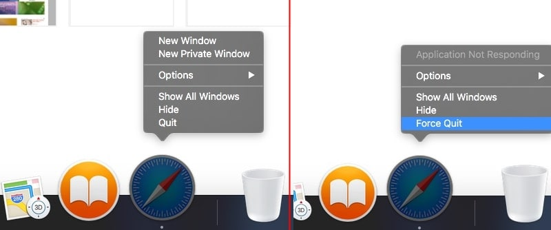 Quit or Force Quit app on Mac