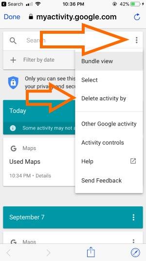 3 Delete Activity on iPhone app