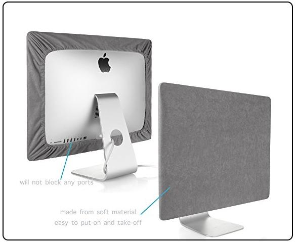 Kuzy gray iMac 27 inch cover