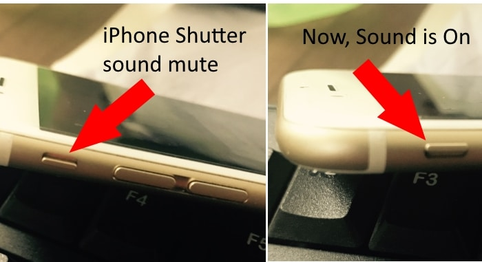 Use Side button for Turn off or on Sound