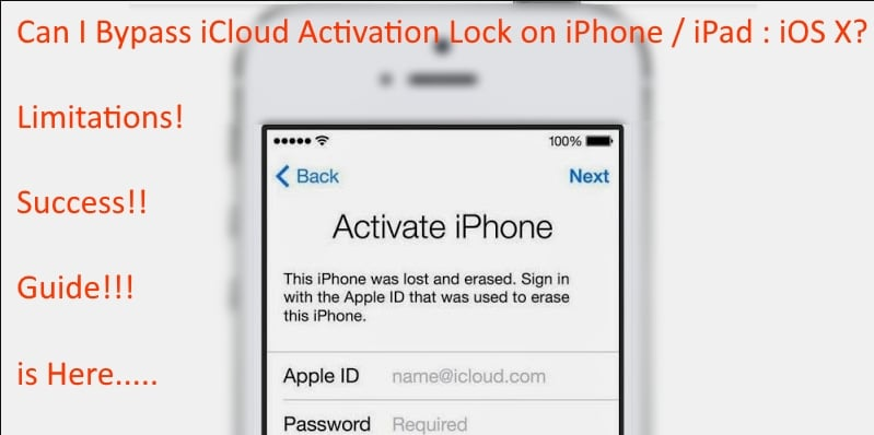 bypass iCloud activation lock on iPhone and iPad guide