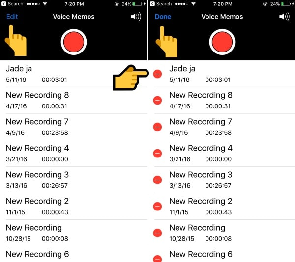 Delete Voice mail on iPhone