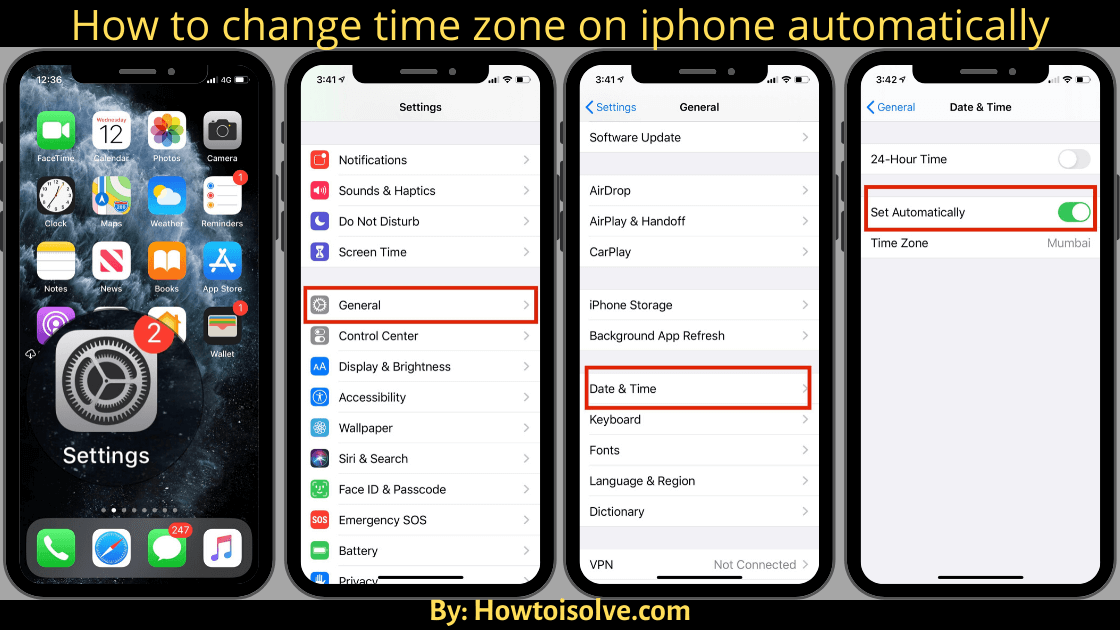 Get how to change time zone on iphone automatically