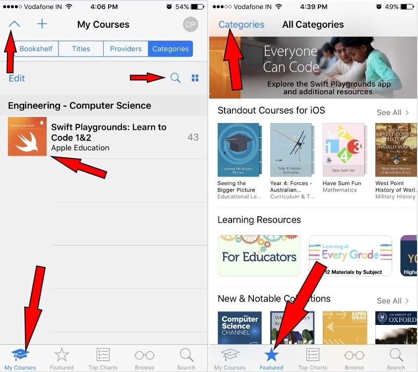 iTunes U Student login on iPhone 7 Plus iOS 10 ipad Air ipad Mini